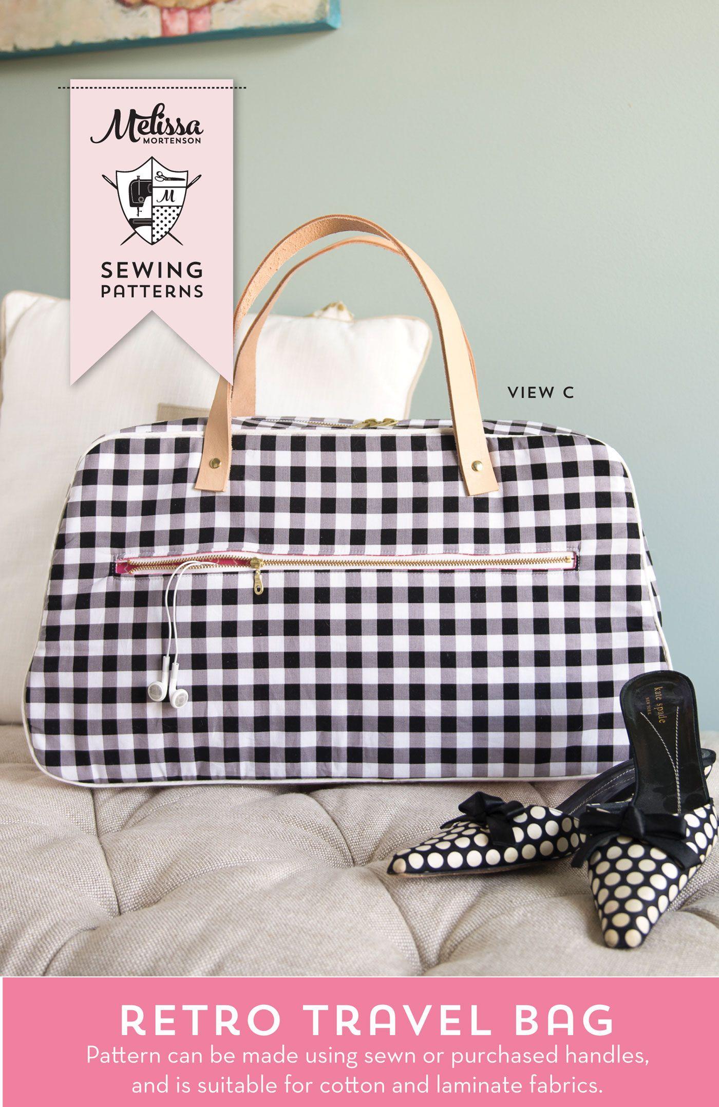 Refreshed Retro Travel Bag Sewing Pattern | Nähideen, Taschen nähen ...