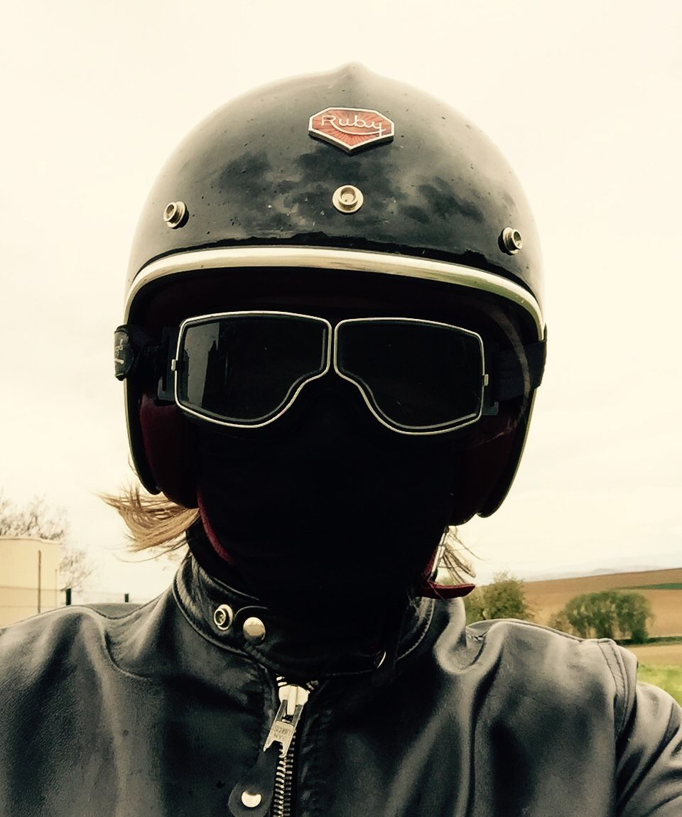 Ruby helmet / casque with Jeantet aviator goggles / lunettes