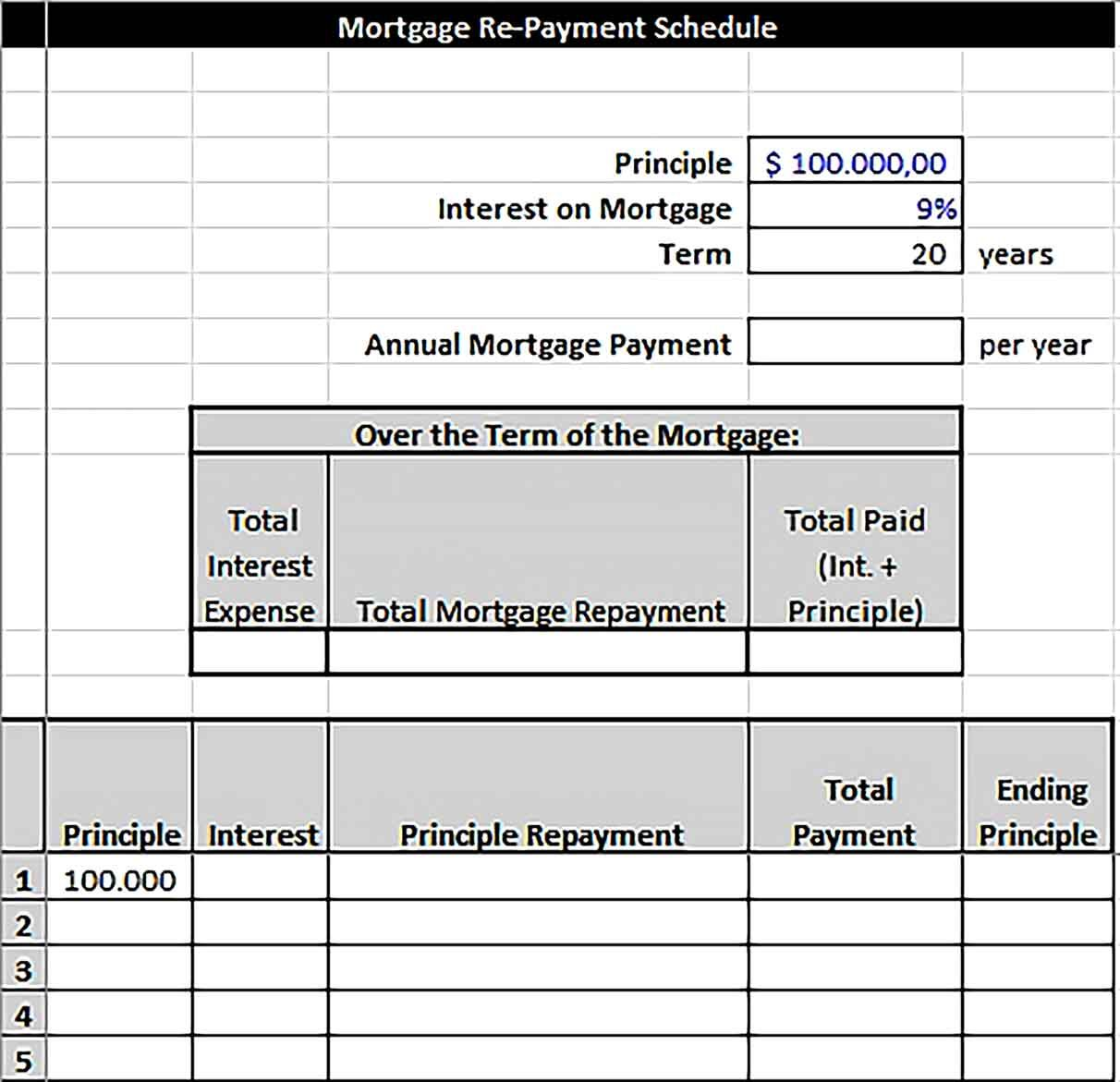 Sample Mortgage Payment Schedule In 2020 Payment Schedule Mortgage Payment Schedule Template