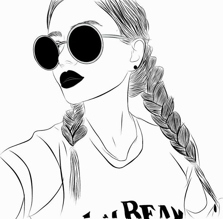 #outline #art #illustration #digitalart #grungegirl # ...
