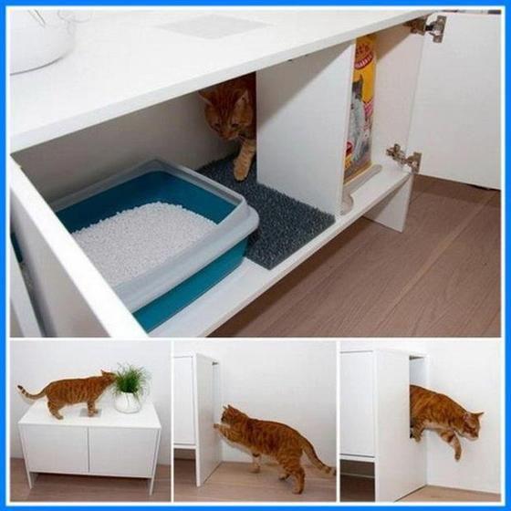 Schrank Für Katzenklo das ist mal eine geile idee xd zessin katzen
