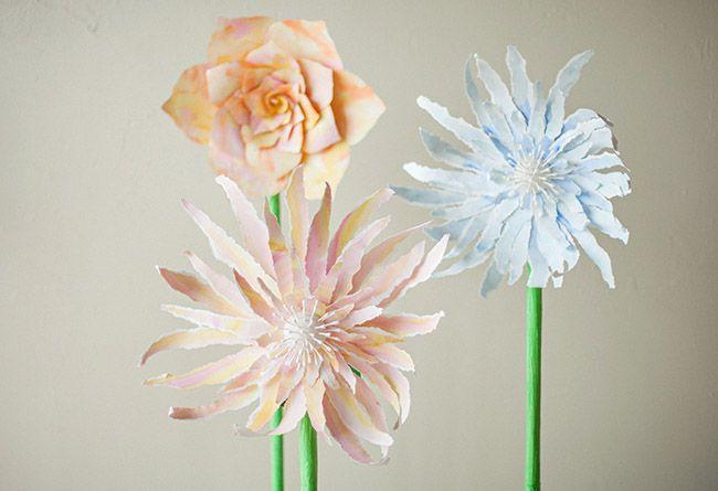 Diy Giant Standing Paper Flower Paper Flowers Handmade Flowers