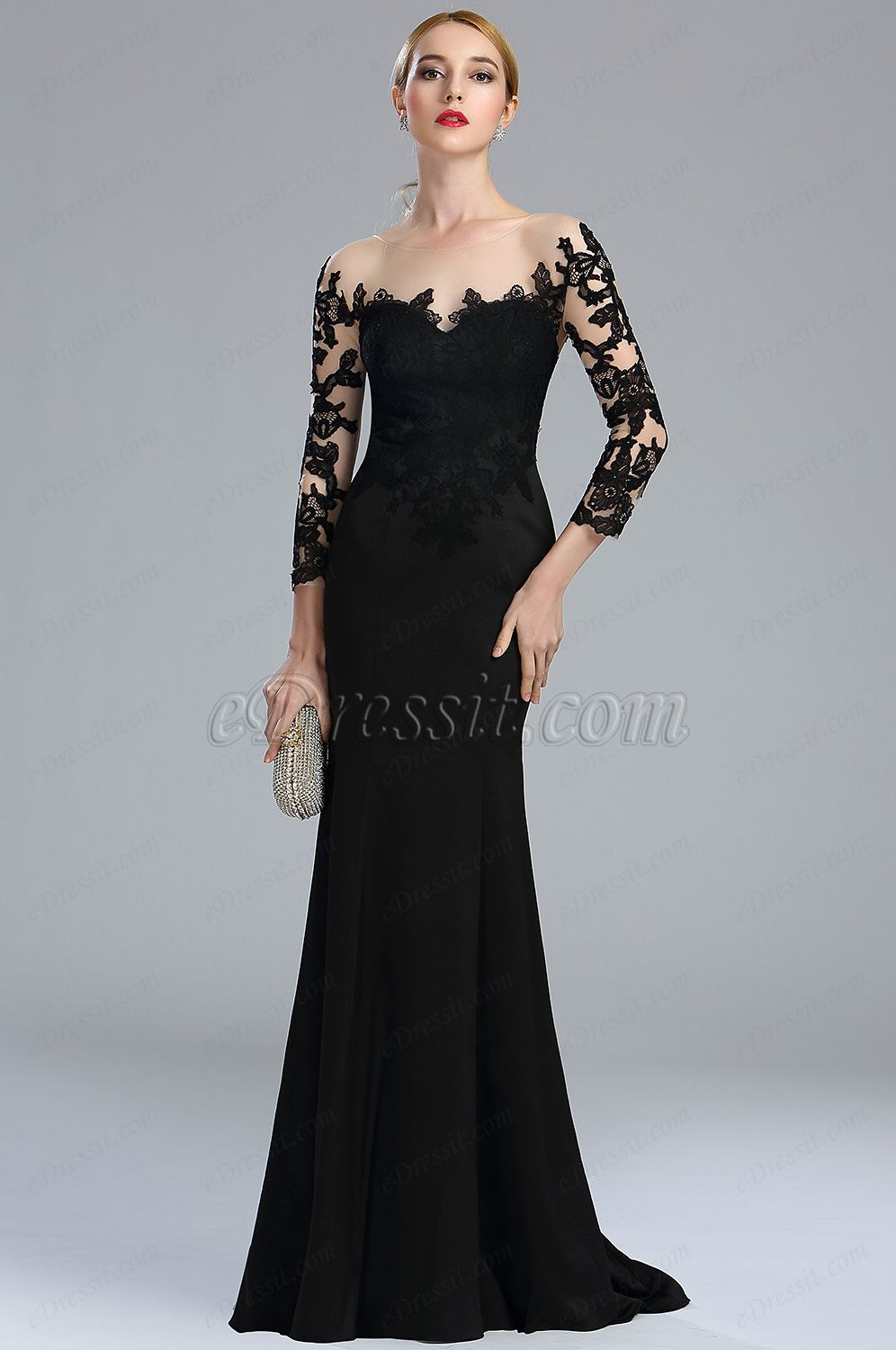 Black evening gowns dresses