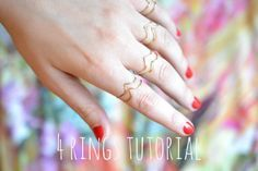4 rings tutorial diy
