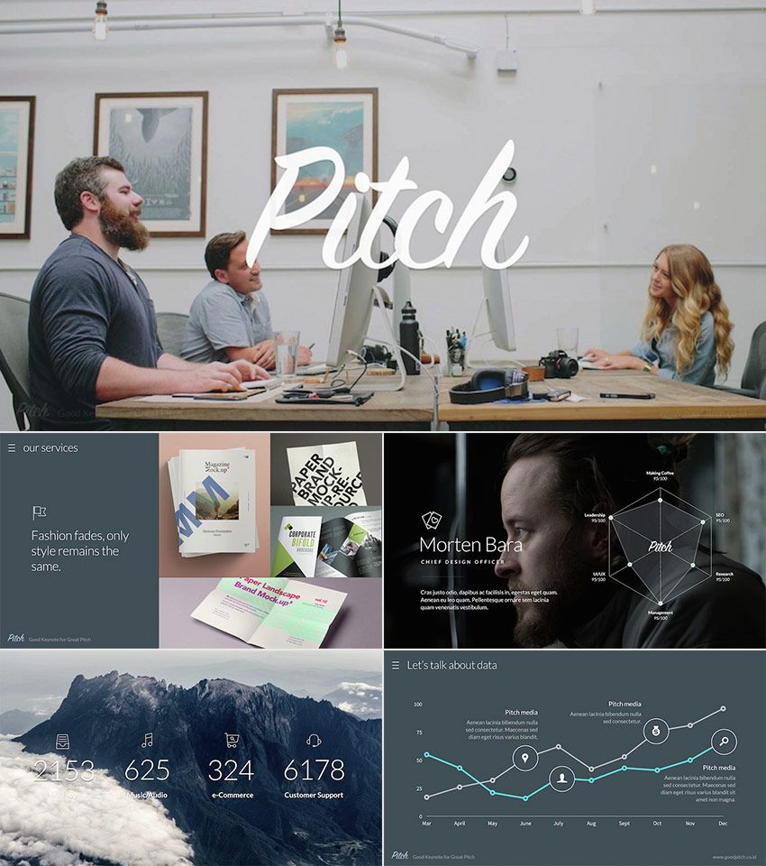 pitch awesome ppt template with cool modern design web page design