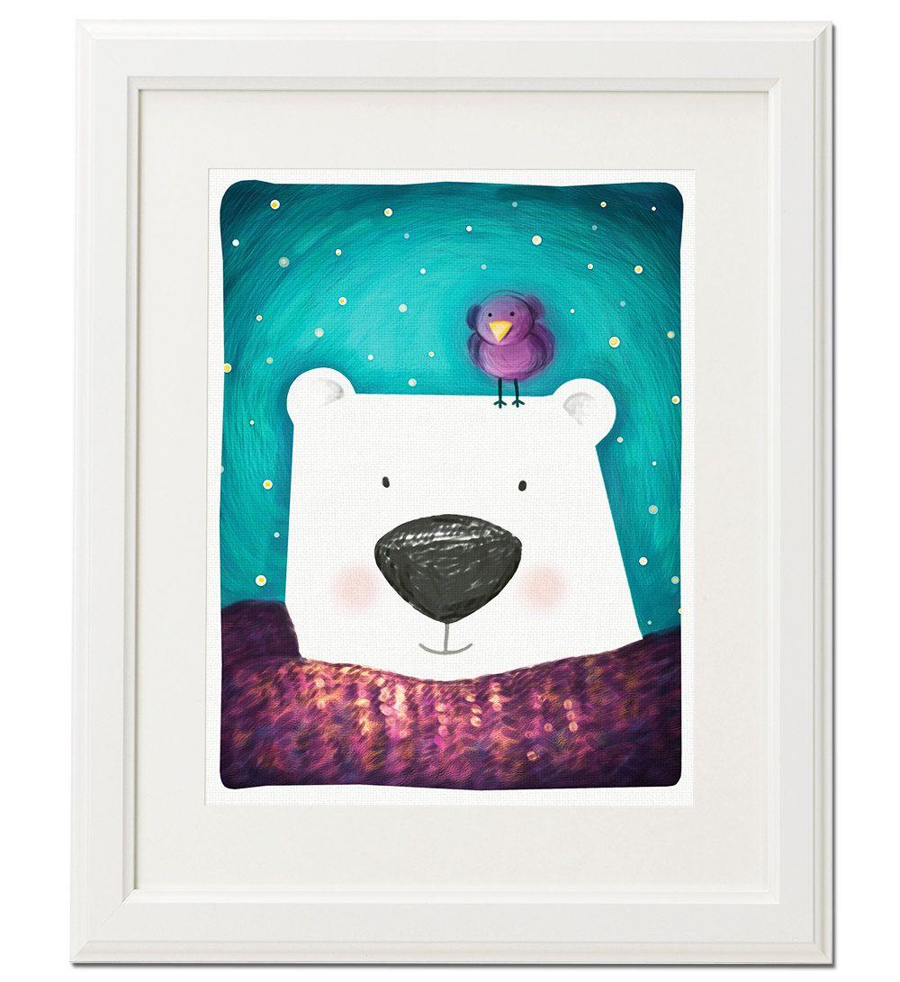 Bear print nursery decor instant download art print digital