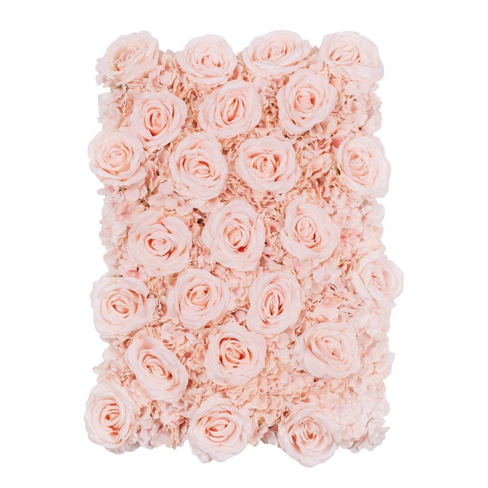 Silk Roses Hydrangeas Flower Wall Backdrop Panel Light Pink Flower Wall Backdrop Silk Roses Flower Wall