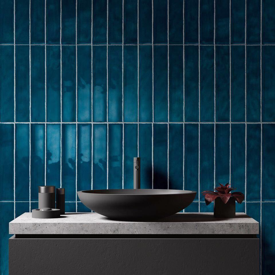 Decoracion De Cuartos De Baño Con Azulejos Azules Y Blancos  toronto