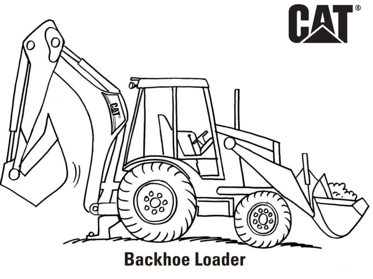 A Href Http S7d2 Scene7 Com Is Content Caterpillar Cm20171101 44169 13373 Download Backhoe Truck Coloring Pages Free Coloring Pages Tractor Coloring Pages