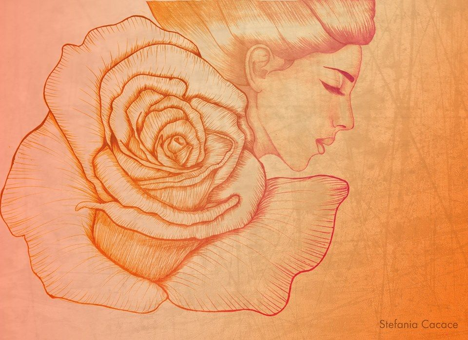 Rose #illustration #digitalart #artwork #drawing #girl #portrait