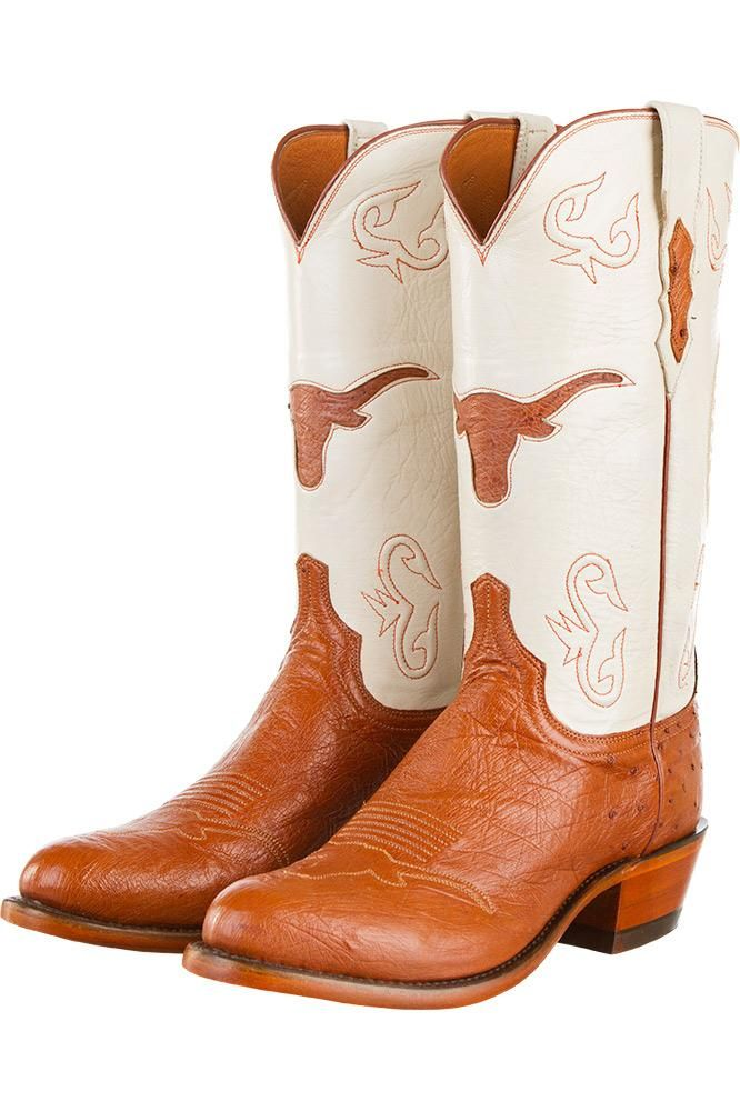 Official University of Texas Lucchese leather cowboy boots