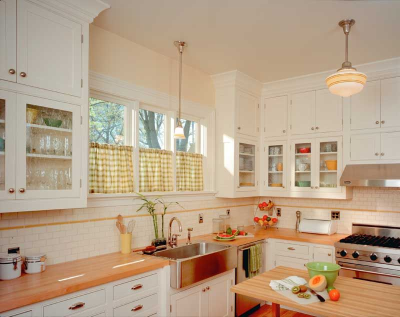 Painted Craftsman Style Kitchen Cabinets | House ... |Vintage Arts And Crafts Kitchen