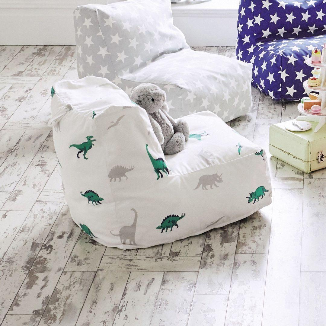 Washable Bean Bag Chair, Dinosaur | Bean bag chair, Kids ...