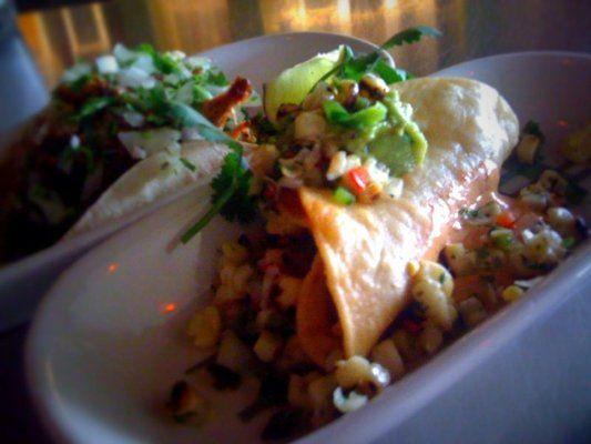 Crispy Potato Rajas Tacos Recipe:  http://www.foodnetwork.com/recipes/crispy-potato-rajas-tacos-recipe/index.html