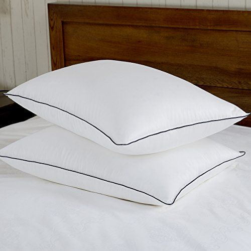 Rest Sync Triple Chamber White Goose Feather And Down Pillow 300 Thread Count 100 Cotton Fabric Standardqueen Size Set Of 2 Bed Pillows Target Bedding Pillows