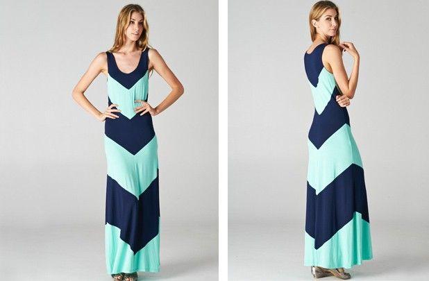 Cute chevron maxi dress....$30!!