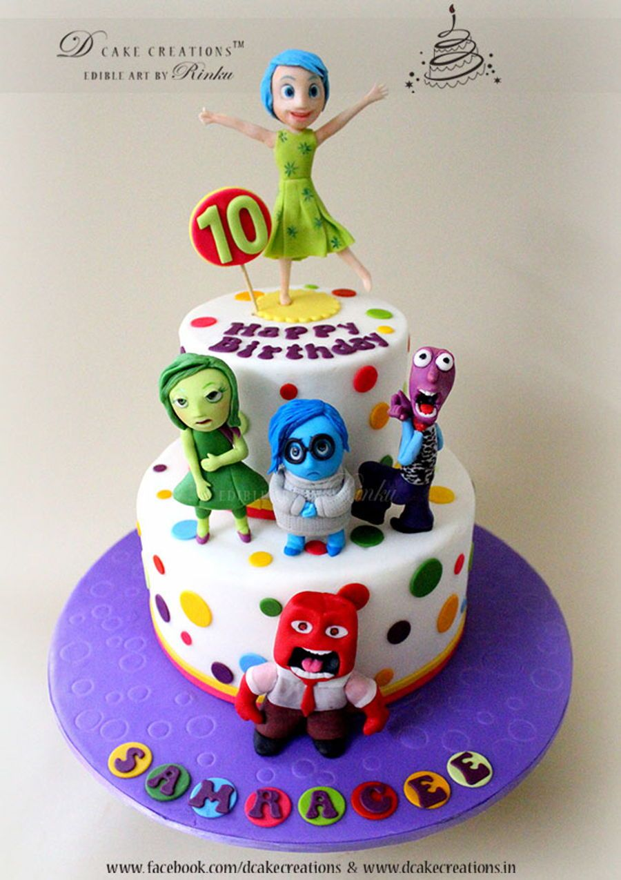 Inside Out Movie Cake With Images Kids Cake Movie Cakes
