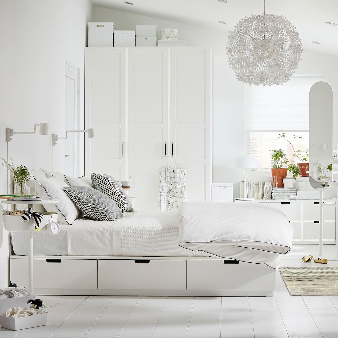 Nordli Bed Frame With Storage White Queen Ikea Bed Frame With Storage Ikea Bed Small Bedroom