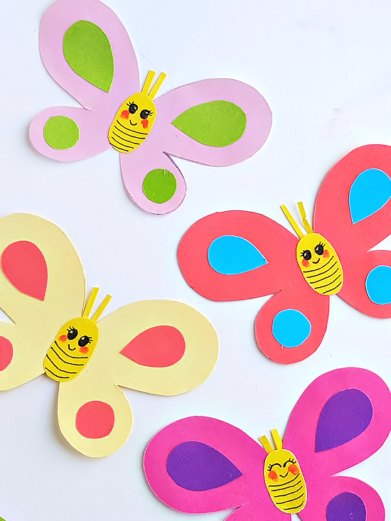 Smiley Butterflies Paper Craft #craft