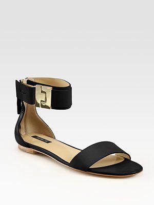 b4fd50df046 Perfect dressy black flat sandal!