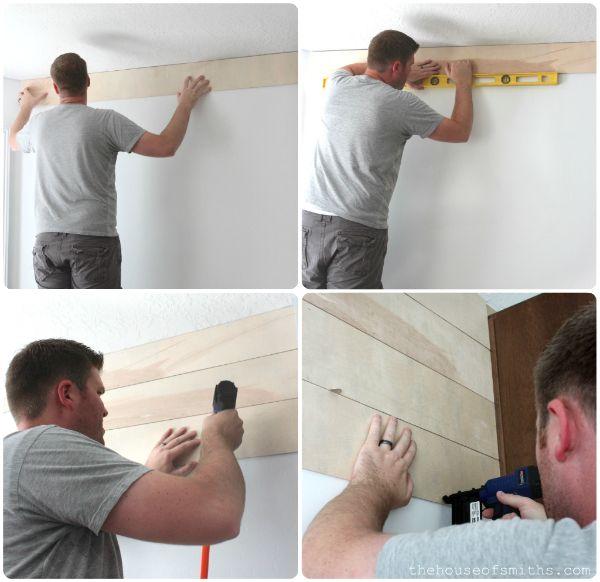 DIY Wood Planked Walls Tutorial | walls in 2019 | Wood plank
