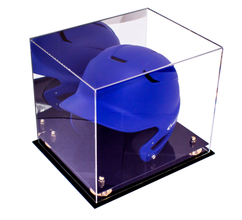 Deluxe Acrylic Cleat Display Case With Turf Floor With Mirror Baseball Helmet Display Case Play Baseball