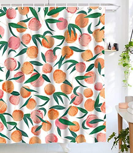 Amazon Com Lifeel Peach Shower Curtains Funny Fruit Design Fabric