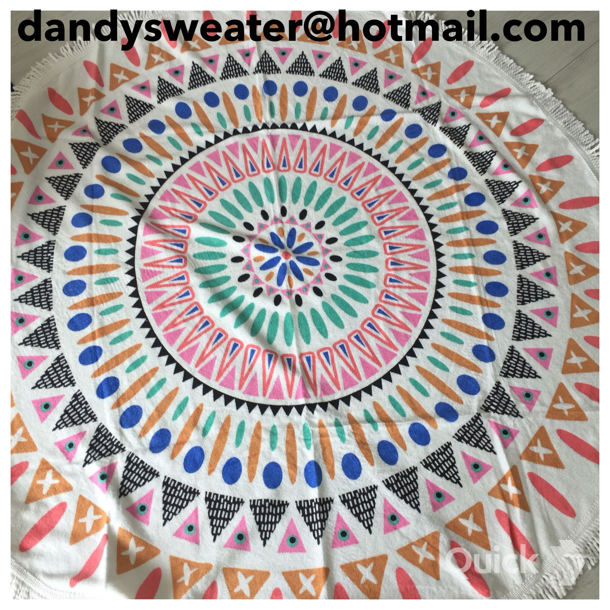 We love round beach towels info dandysweater@hotmail.com