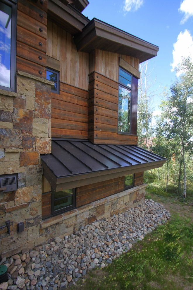 Rustic Contemporary Exterior Modern Rustic Siding In