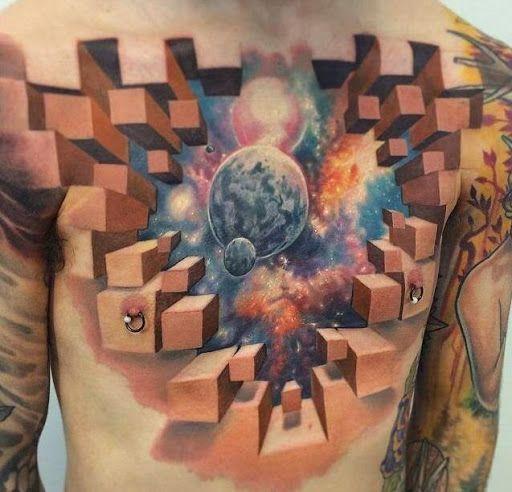 3d Chest Piece Tattoos For Men Http://tattootodesign.com