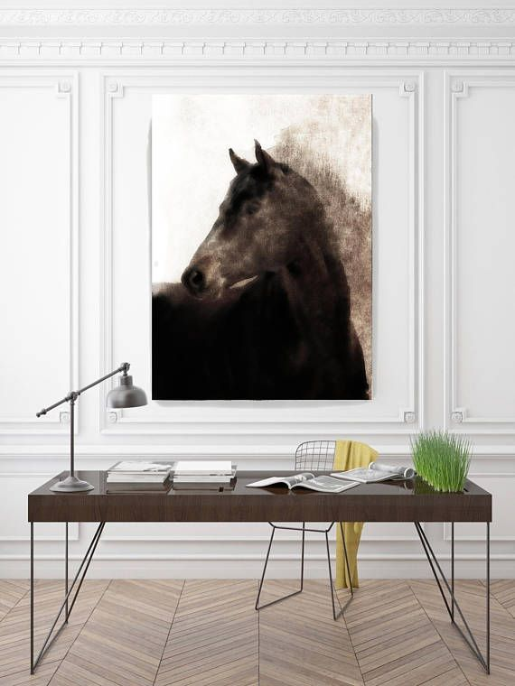 Extra Large Horse Unique Wall Decor Brown