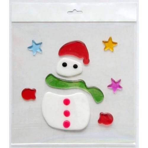Christmas Ornament Stickers  Material:TPR,non-toxic,re-usable  OPP Bag Size:165X125MM
