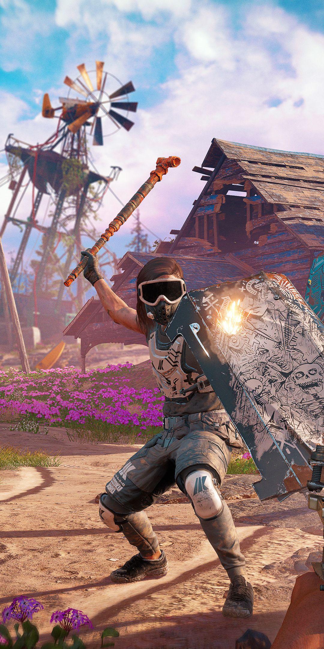 Far Cry New Dawn Video Game 2018 Fight 1080x2160 Wallpaper