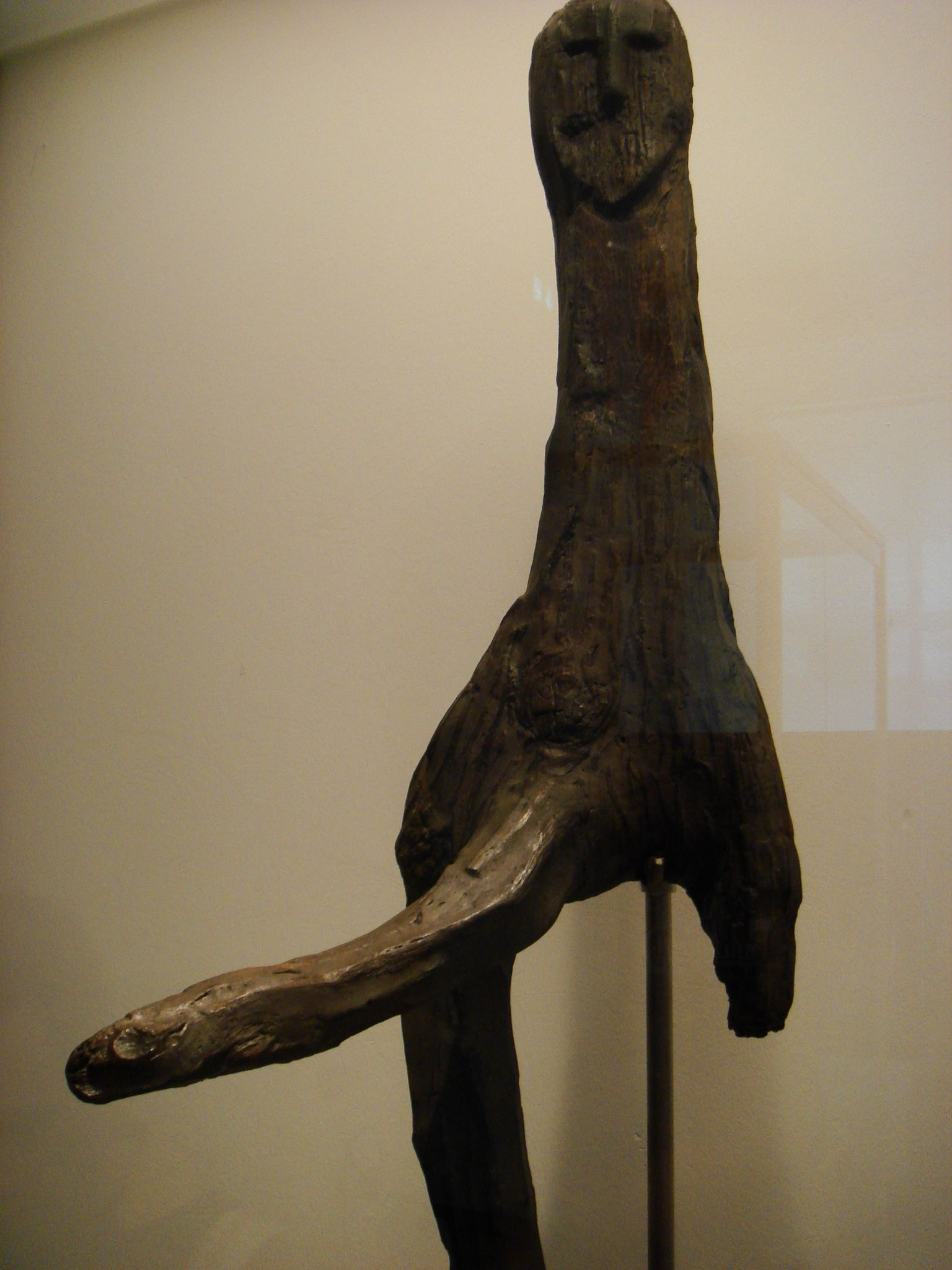 The Broddenbjerg idol is a wooden ithyphallic figure found in a bog at Broddenbjerg, near Viborg, Denmark and now in the National Museum of Denmark in Copenhagen. It is dated to approximately 535–520 BCE.