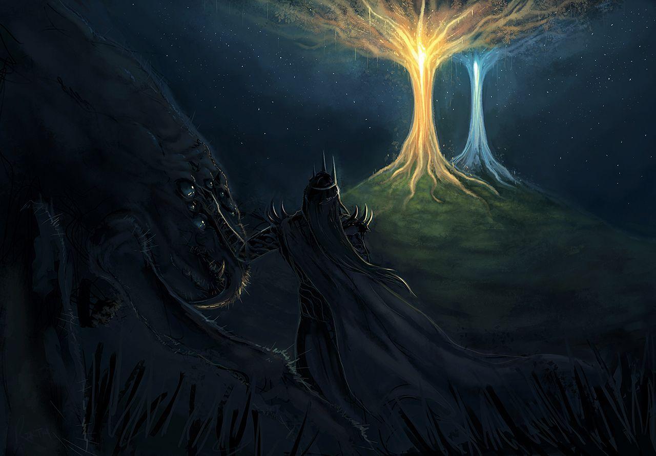 Melkor And Ungoliant Bing Images Seigneur Des Anneaux Seigneur Fantastique