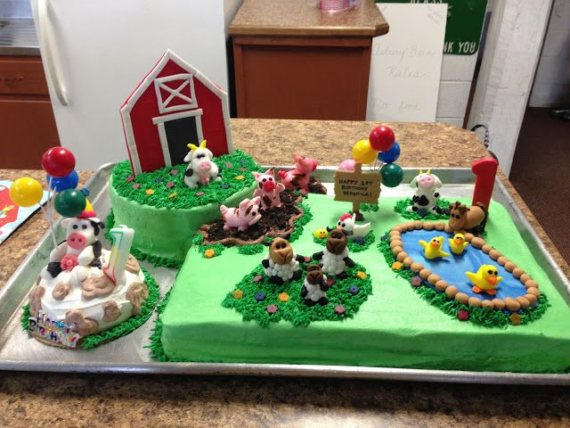 Farm Animal Cake Cake ideas Pinterest Farm animal cakes