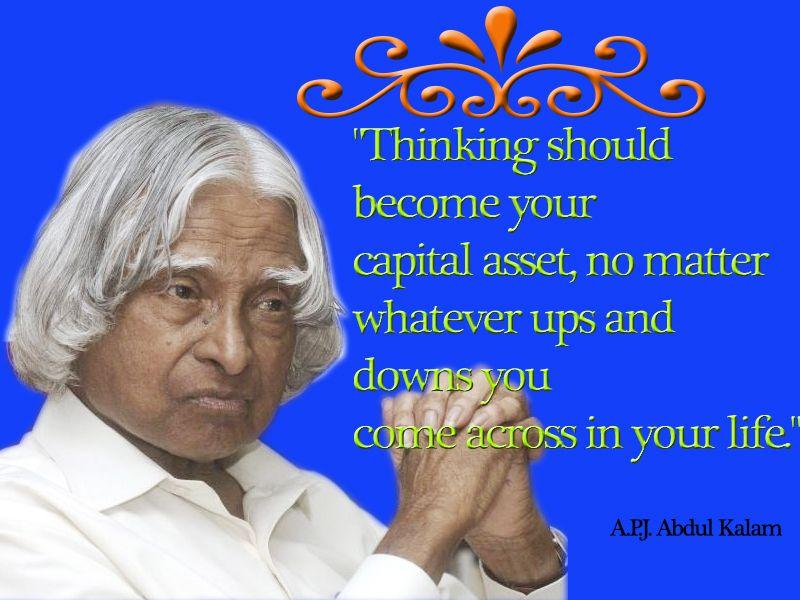 Dr APJ ABDUL KALAM popula quotes for inspirable life
