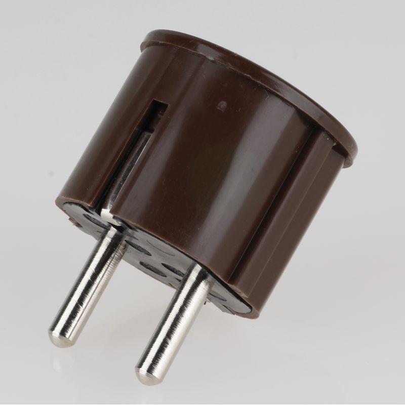 Schutzkontakt Stecker Winkelstecker Braun 250v 16a Kaufen 2 19 A Stecker Winkel Kontakt