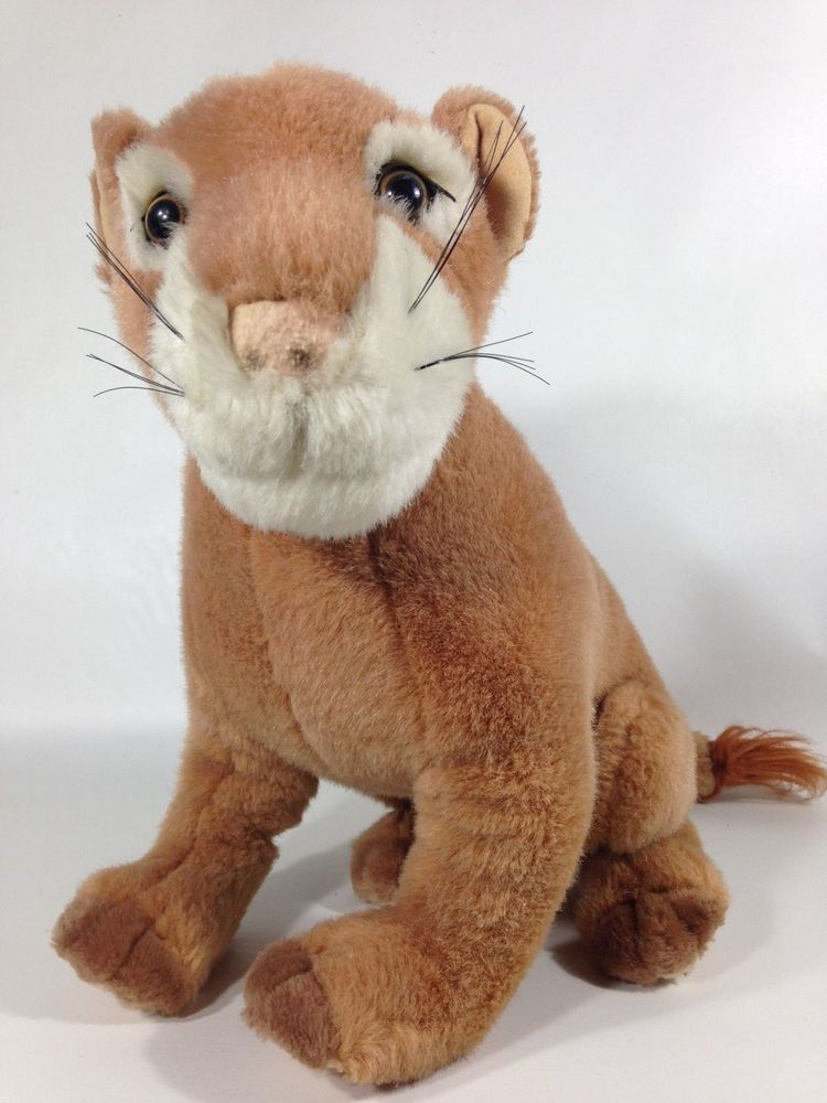 Mountain Lion Plush Wildlife Cougar Stuffed Animal Puma Cat 14