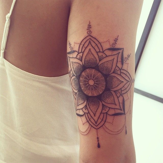 Back Of The Arm Mandala Thanks So Much Amanda Tattoos Back