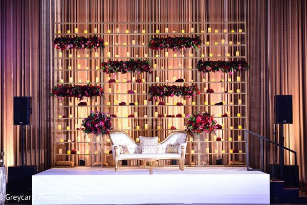 Indian Wedding Reception Sweetheart Stage Wedding Inspiration
