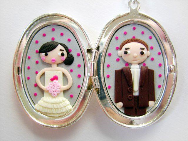 Les Folles Marquises: Trois médaillons de mariage en situation + démonstration au Furet du Nord