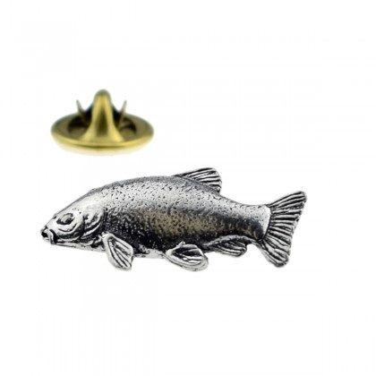 Fish. Angling Angler Fisherman Tench pin badge