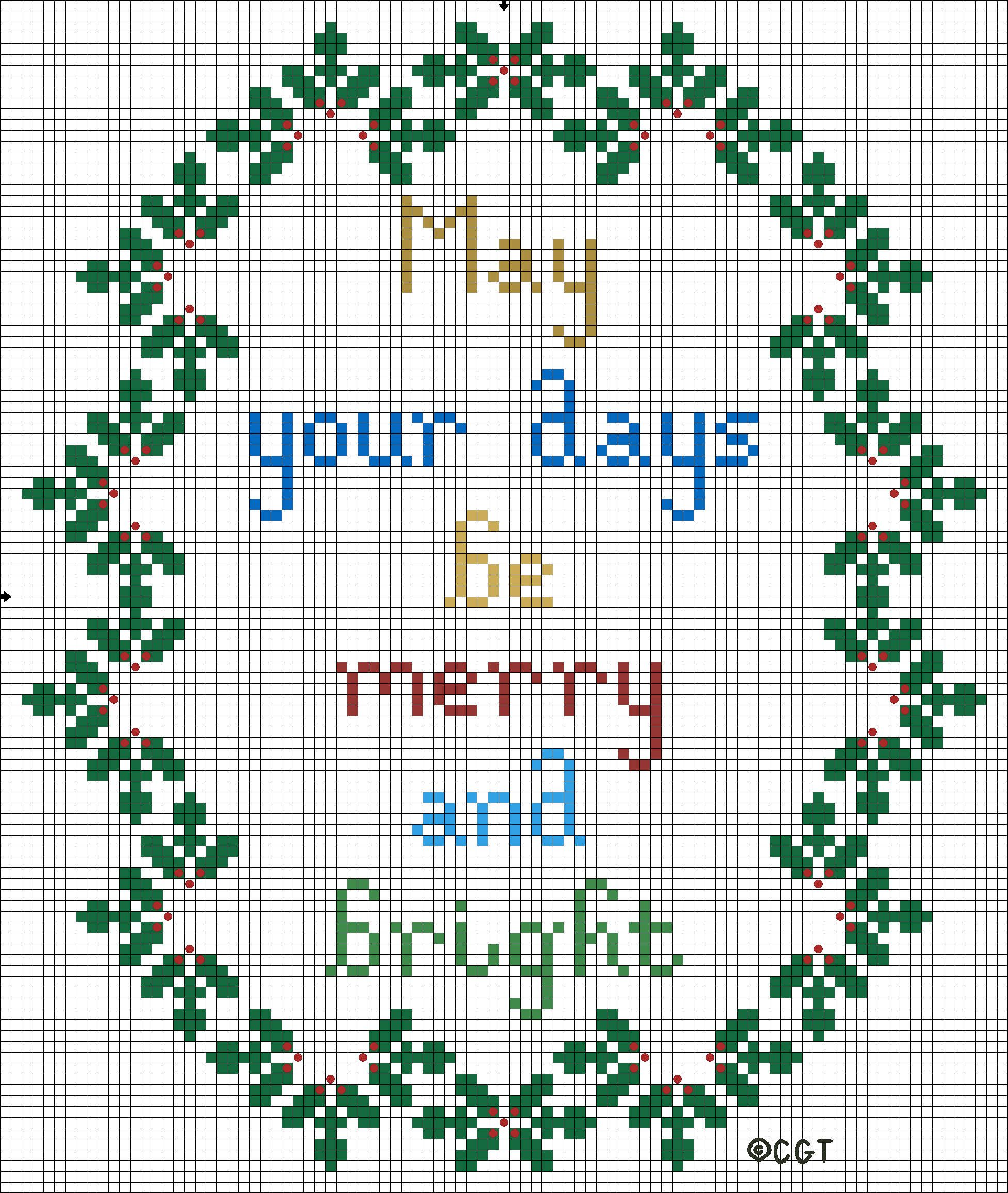 Free Printable Christmas Ornament Cross Stitch Patterns.9 Christmas Themed Cross Stitch Patterns Cross Stitch
