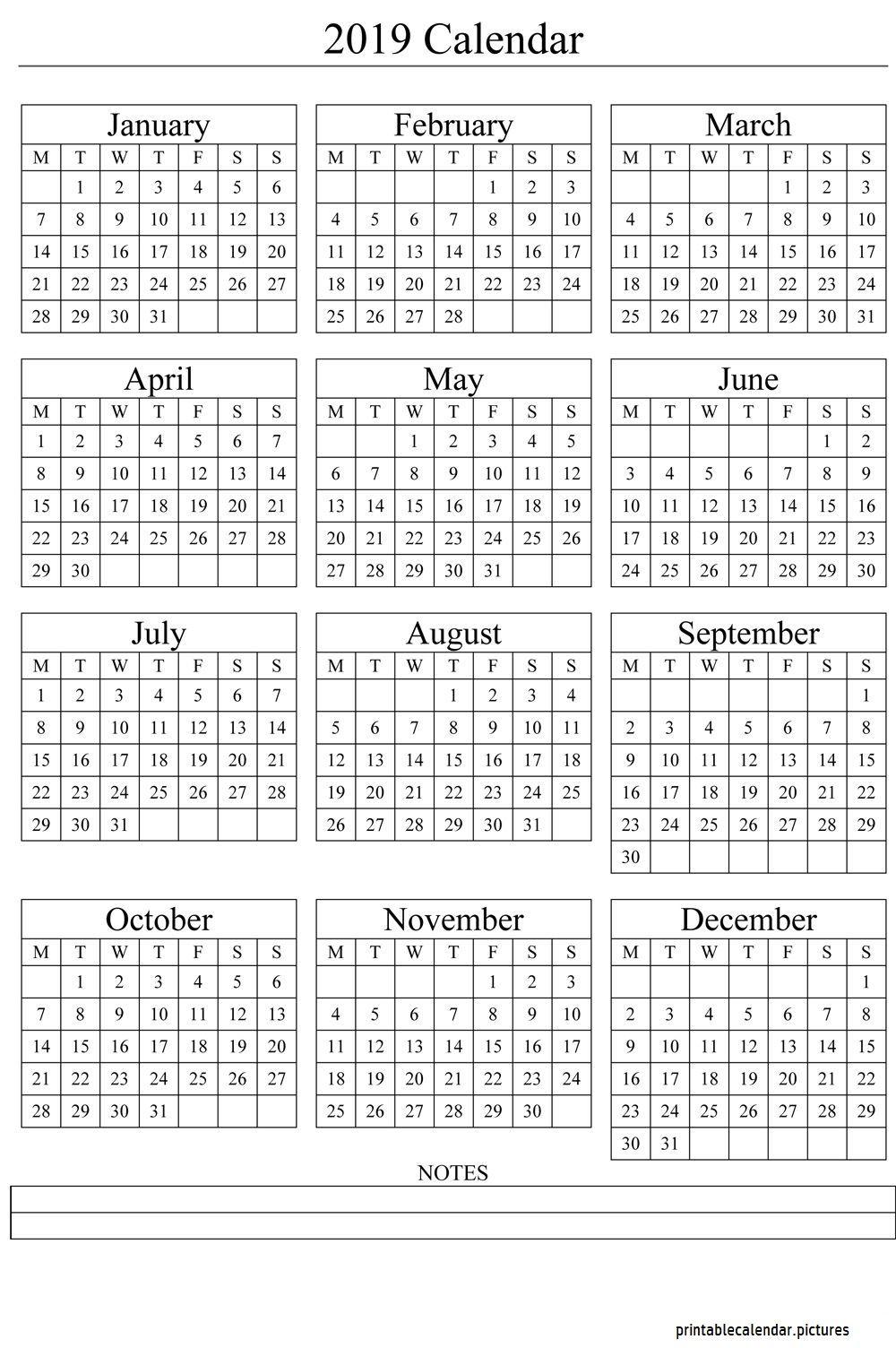 Calendar Template 2019 Calendar Template 2019 Pinterest