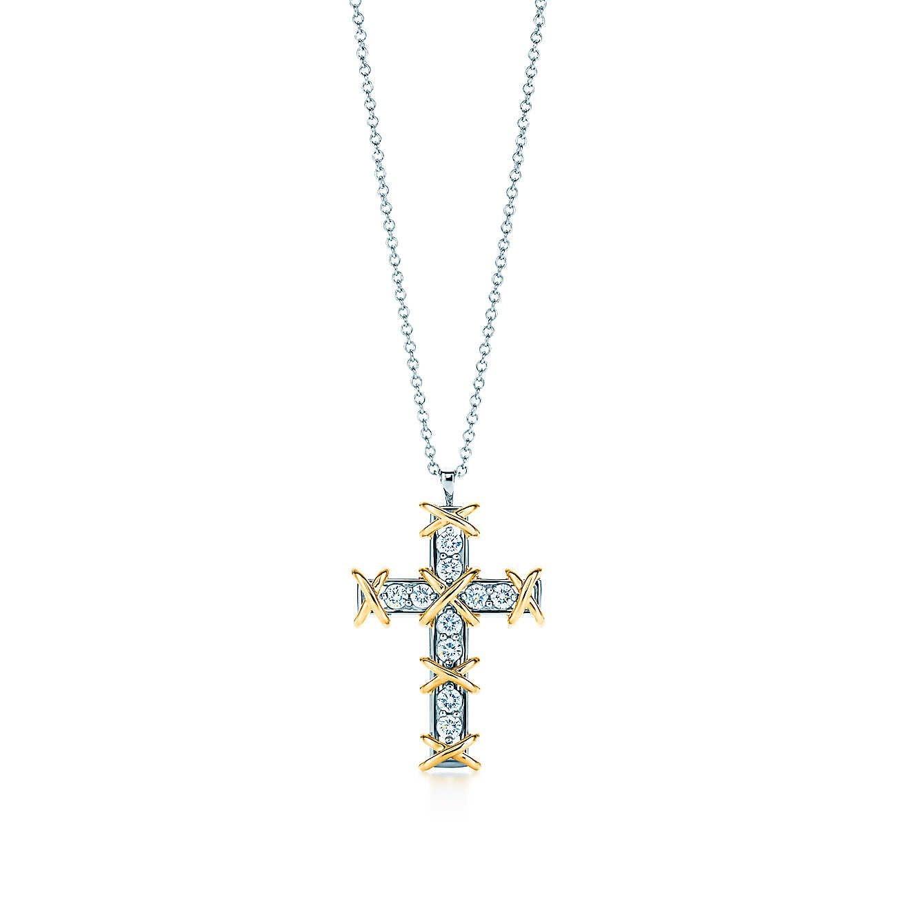 Schlumberger ten stone cross pendant tiffany pendants and stone schlumbergerten stone cross pendant aloadofball Gallery