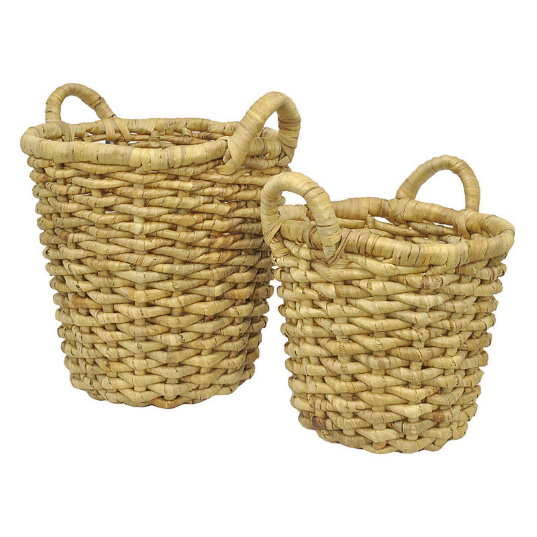Three Hands 2 Piece Natural Wicker Basket Set 30890 Basket