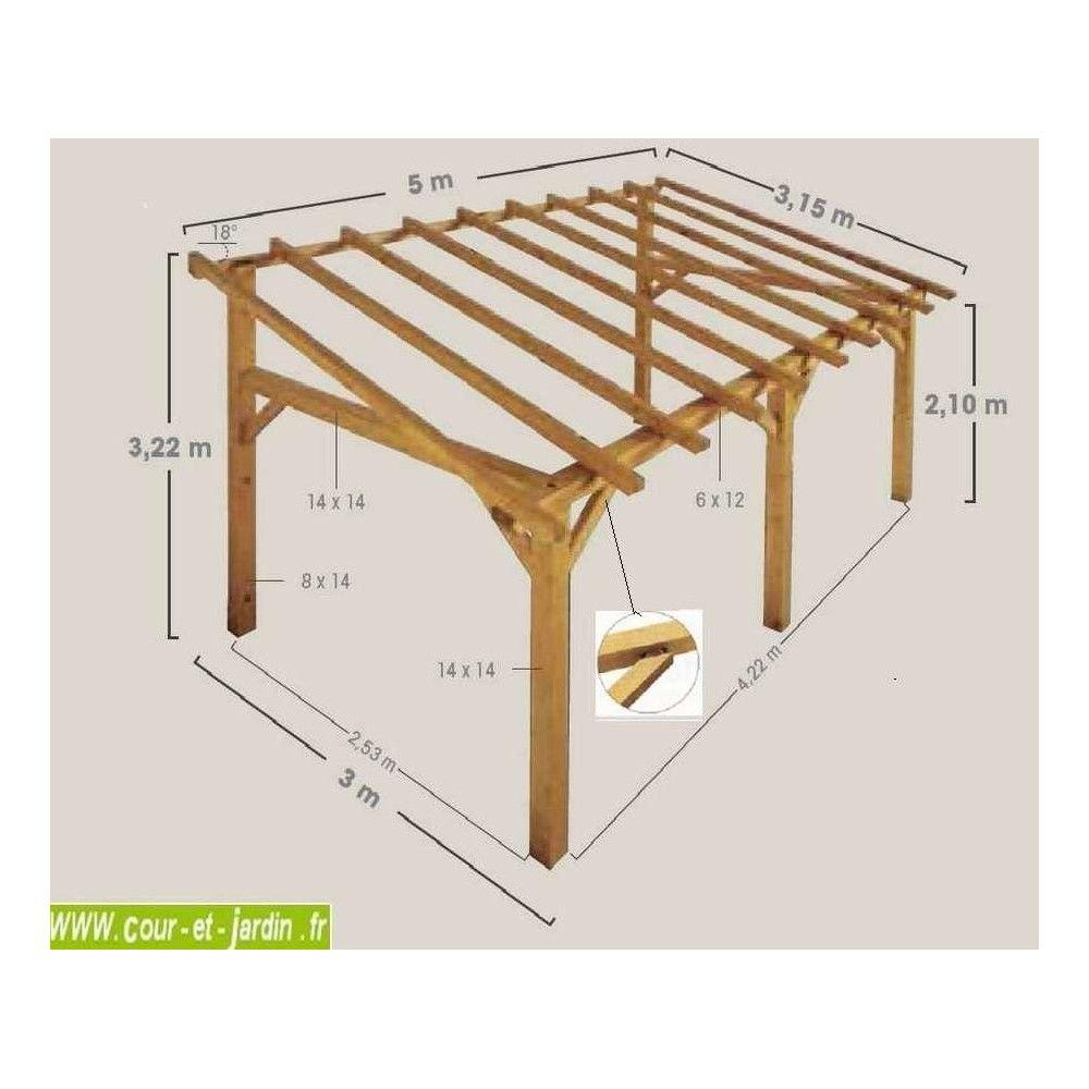 Plan Pour Construire Un Auvent En Bois auvent bois, auvent en bois, charpente, en kit, abri
