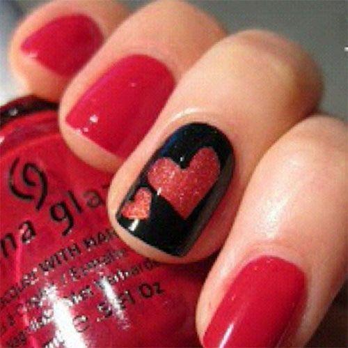 Best & Cute Valentine's Day Nail Art Designs - Reny styles - 15-Easy-Cute-Valentín-Día-Nail Art-Designs--Ideas-2016-Valentín