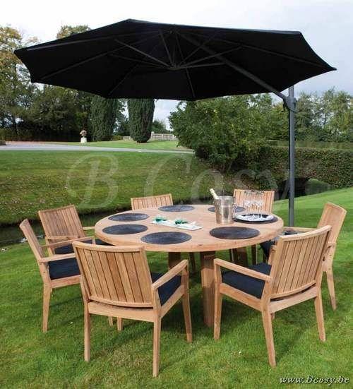 Azur oakland ronde tafel gerecycleerd teak 160 gescova for Ronde tafel diameter 160